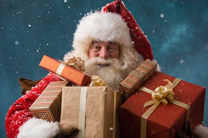 Очень красивые поздравления от Деда Мороза на Новый год 1