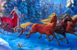 Очень красивые поздравления от Деда Мороза на Новый год
