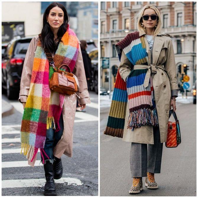Как носить шарф: 35 неповторимых вариантов 2021 года 3