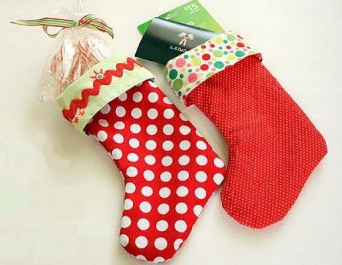 Робимо новорічні шкарпетки своїми руками 6