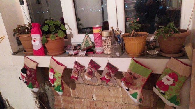 Робимо новорічні шкарпетки своїми руками 3