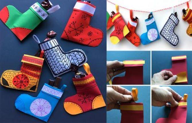Робимо новорічні шкарпетки своїми руками 2