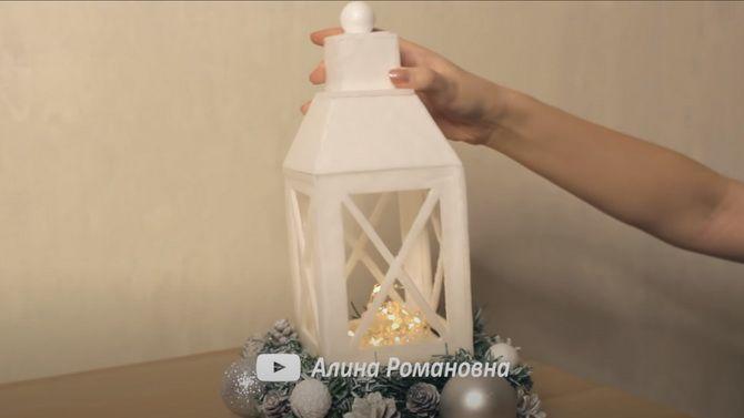 Светлое творчество: новогодние фонарики своими руками 25