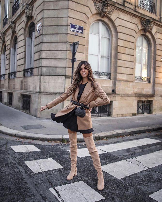 С чем носить ботфорты: фото и модные сочетания 2021 года 11