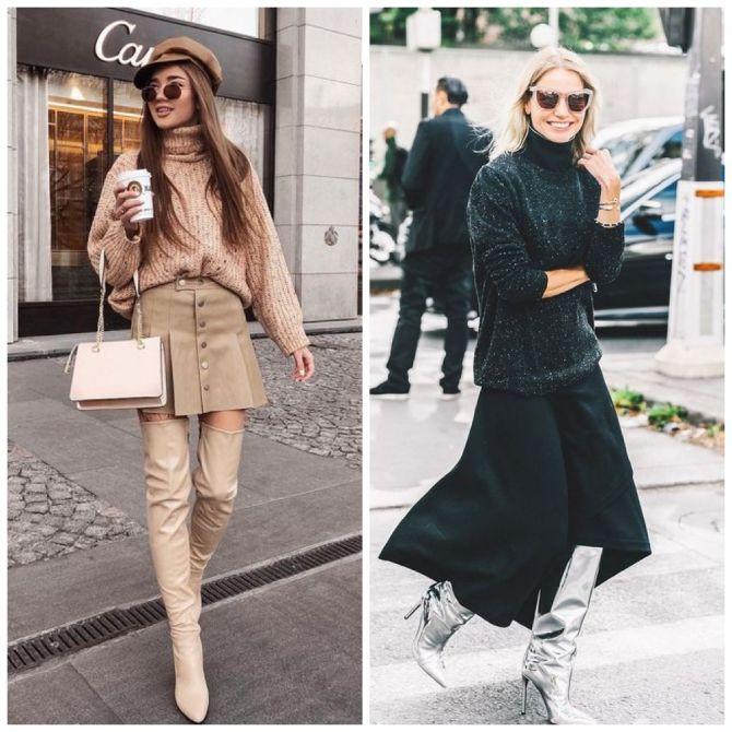 С чем носить ботфорты: фото и модные сочетания 2021 года 12