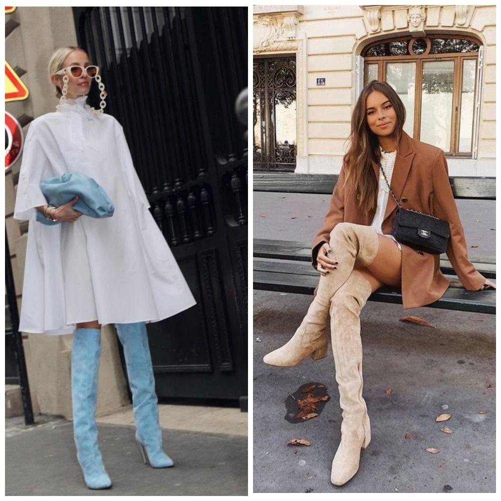 С чем носить ботфорты: фото и модные сочетания 2021 года 17