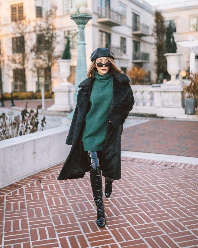 С чем носить ботфорты: фото и модные сочетания 2021 года 19