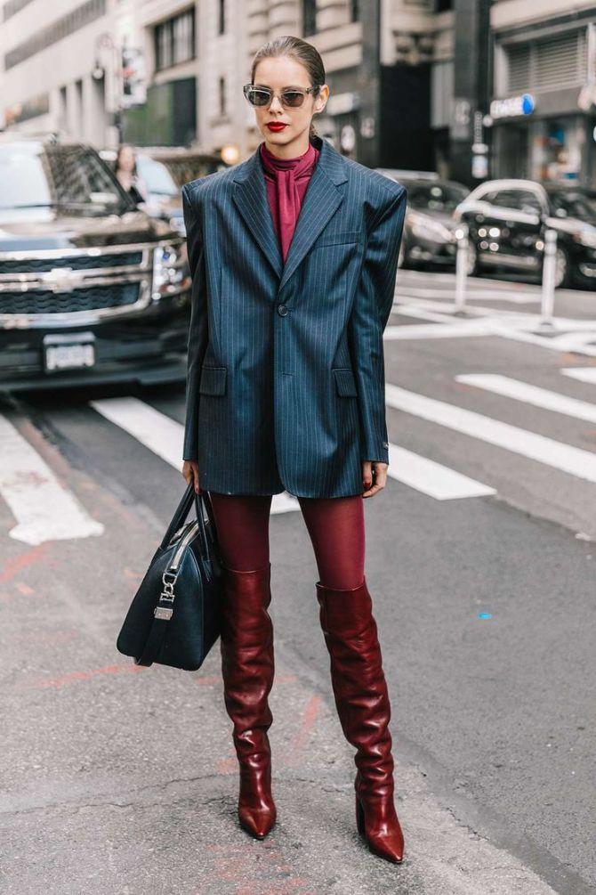 С чем носить ботфорты: фото и модные сочетания 2021 года 3