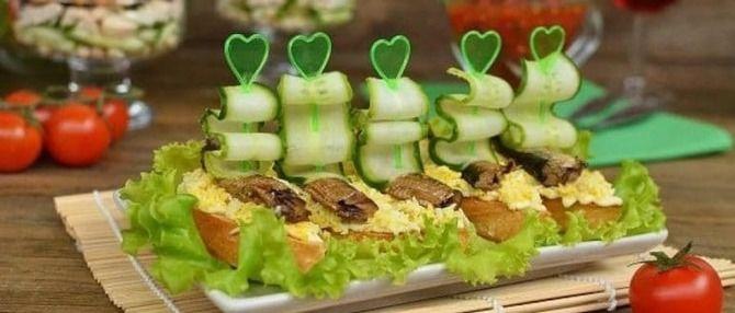 Апетитна закуска – бутерброди для новорічного столу 7