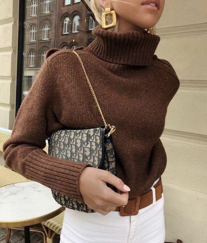 Шоколадні відтінки в моді: як їх носити взимку? 48