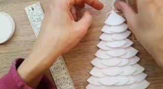 Створюємо ялинку з ватних дисків своїми руками – красиві вироби під Новий рік 18