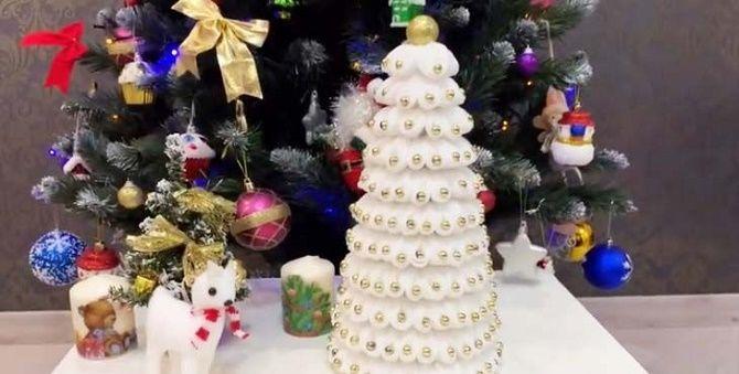 Створюємо ялинку з ватних дисків своїми руками – красиві вироби під Новий рік 1