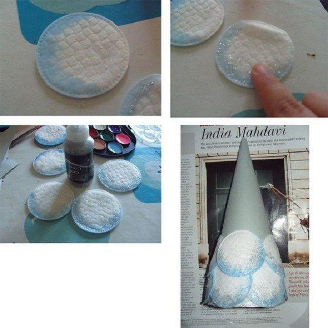 Створюємо ялинку з ватних дисків своїми руками – красиві вироби під Новий рік 9