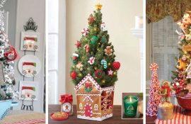 Різдвяний декор: 40 казкових ідей прикрашання маленької ялинки