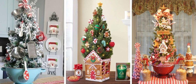 Рождественский декор: 40 сказочных идей украшения маленькой елки
