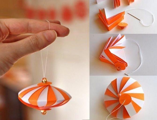 Красиві і незвичайні ялинкові іграшки з паперу – як зробити своїми руками 24