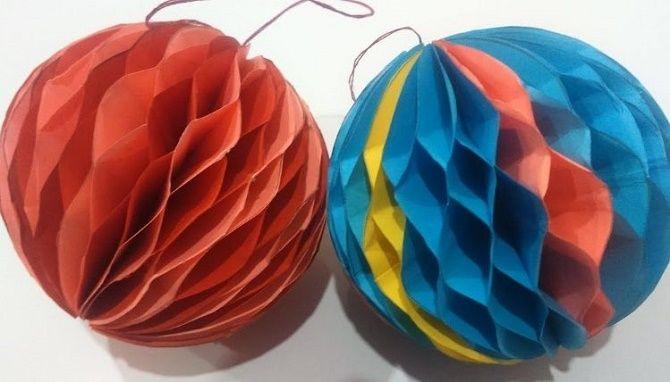 Красиві і незвичайні ялинкові іграшки з паперу – як зробити своїми руками 5