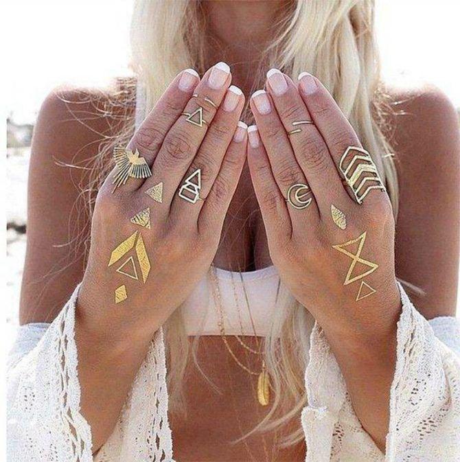 Трендовые flash-tattoos – украшаем тело красивыми росписями 35