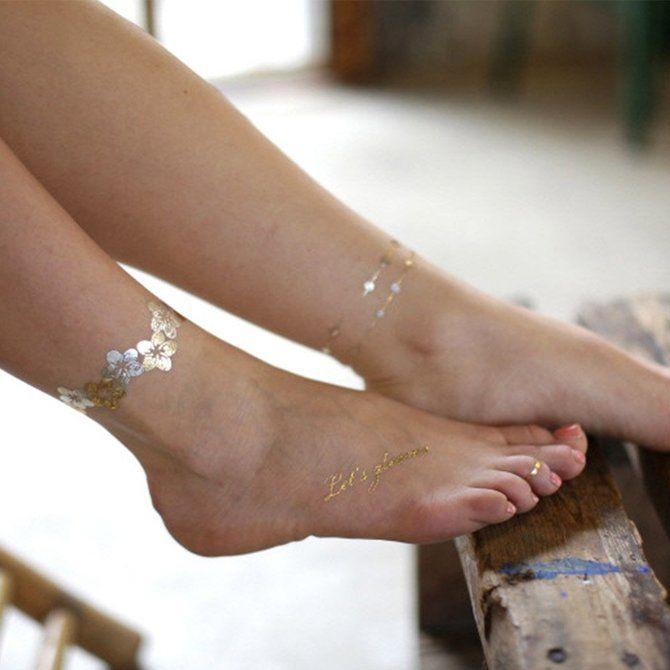 Трендовые flash-tattoos – украшаем тело красивыми росписями 44