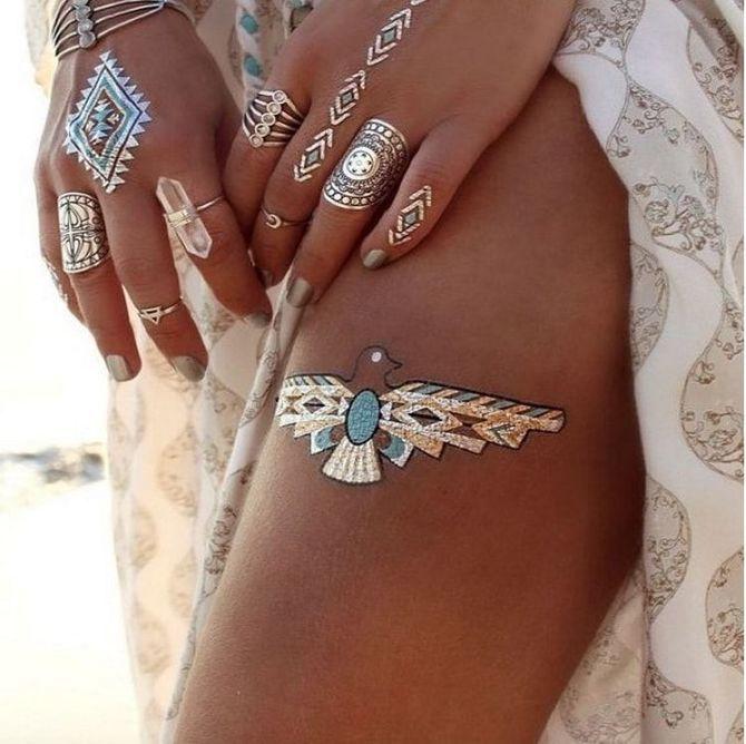Трендовые flash-tattoos – украшаем тело красивыми росписями 46