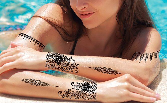 Трендовые flash-tattoos – украшаем тело красивыми росписями 7