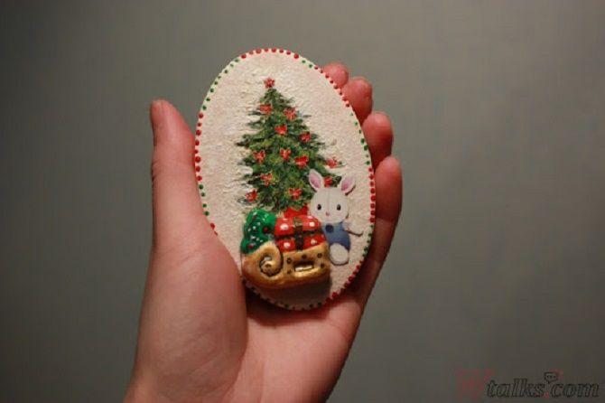 Новогодние магниты своими руками: создаем сувениры на Новый год 2021 13