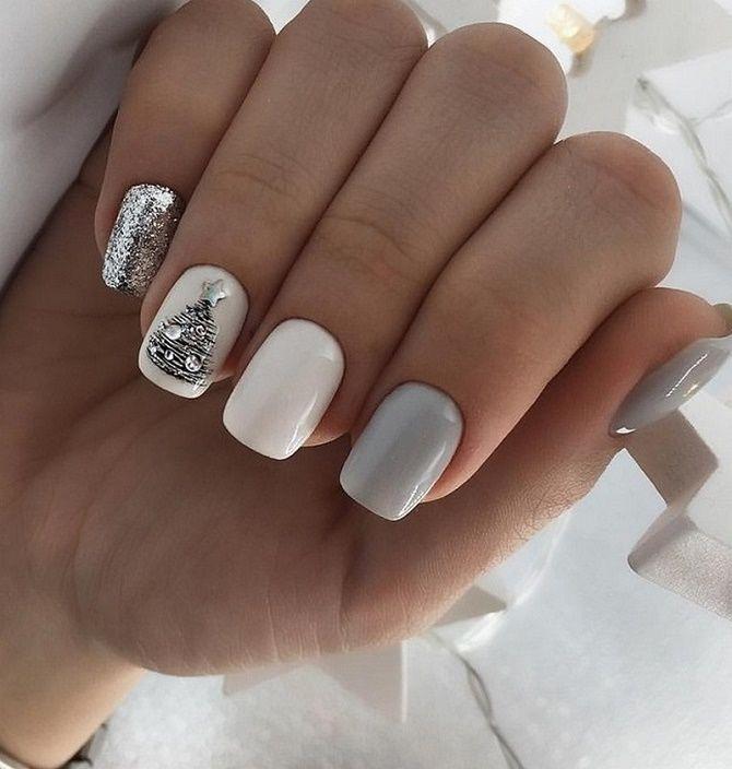 Святковий манікюр з ялинкою на Новий рік 2021: красиві варіанти дизайну нігтів 1