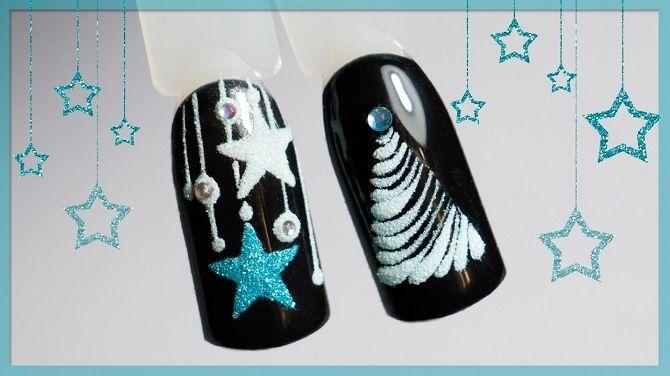Святковий манікюр з ялинкою на Новий рік 2021: красиві варіанти дизайну нігтів 13