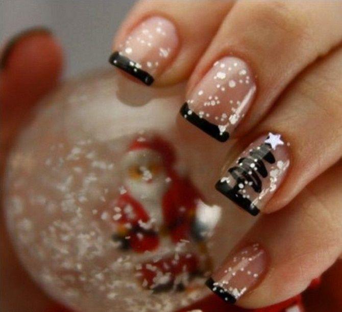 Святковий манікюр з ялинкою на Новий рік 2021: красиві варіанти дизайну нігтів 14