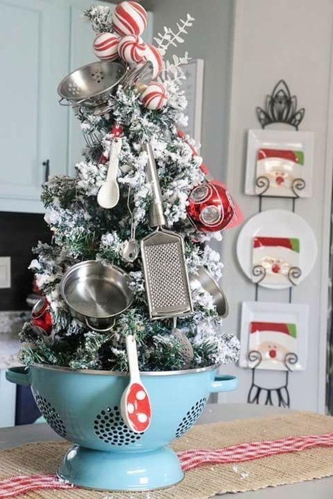 Рождественский декор: 40 сказочных идей украшения маленькой елки 9