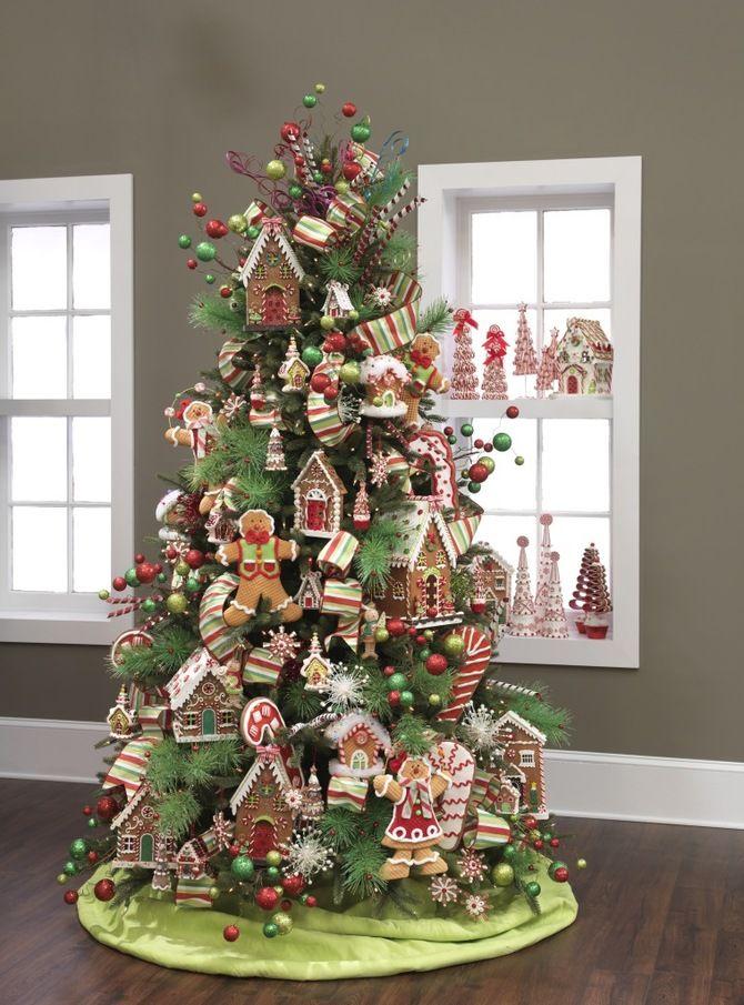 Рождественский декор: 40 сказочных идей украшения маленькой елки 11