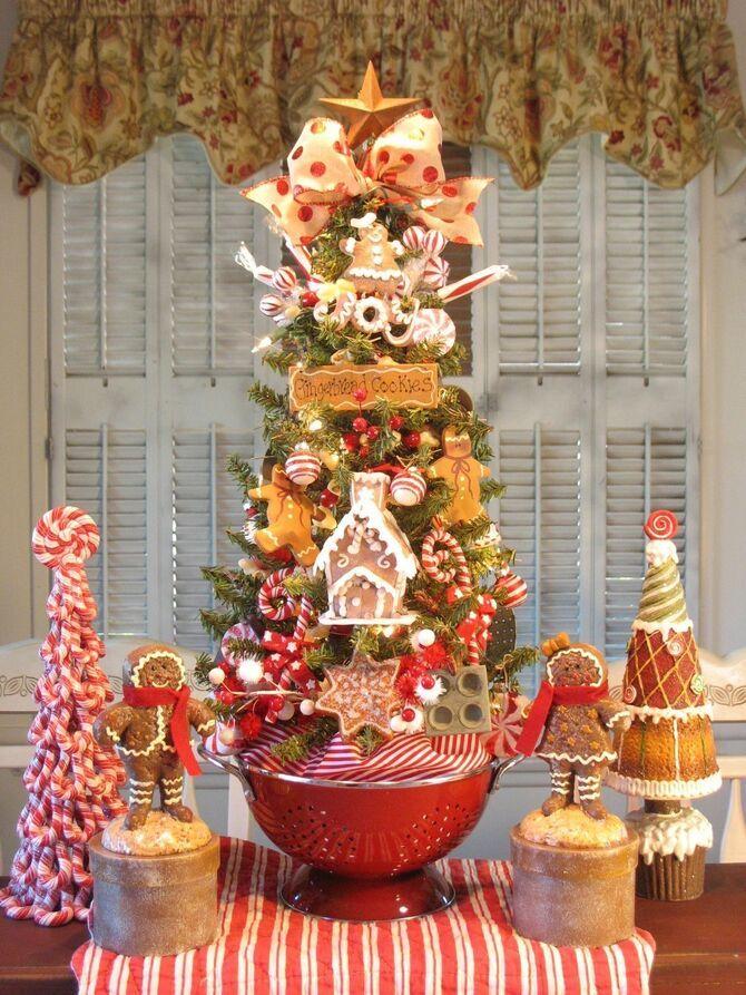 Рождественский декор: 40 сказочных идей украшения маленькой елки 12