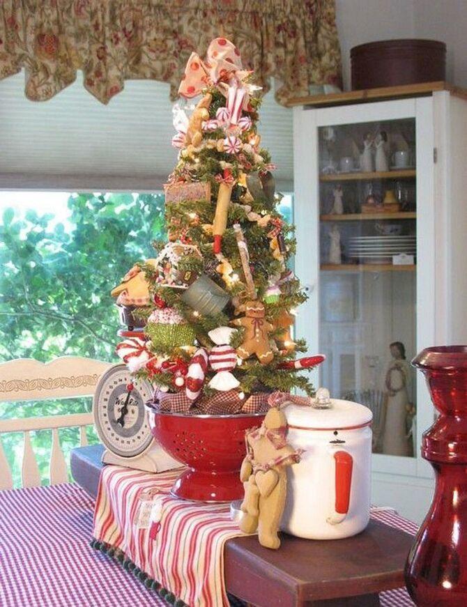 Рождественский декор: 40 сказочных идей украшения маленькой елки 13