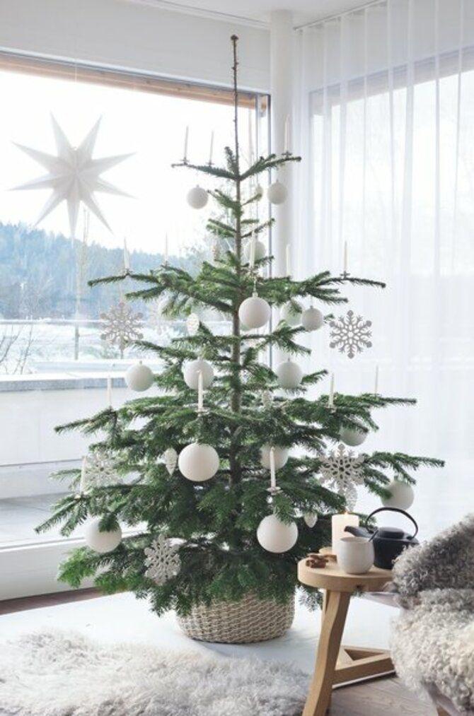 Рождественский декор: 40 сказочных идей украшения маленькой елки 17