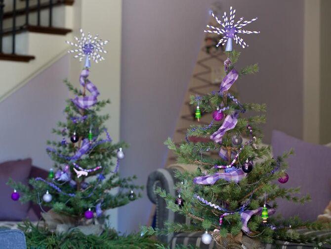 Рождественский декор: 40 сказочных идей украшения маленькой елки 23