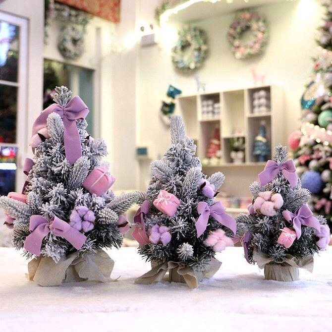 Рождественский декор: 40 сказочных идей украшения маленькой елки 24