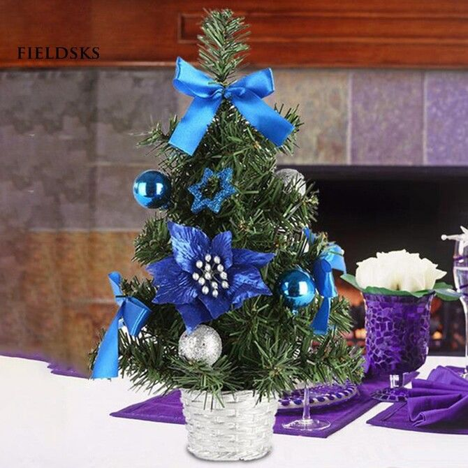 Рождественский декор: 40 сказочных идей украшения маленькой елки 25