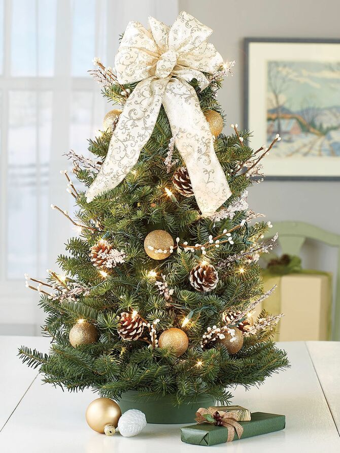 Рождественский декор: 40 сказочных идей украшения маленькой елки 29