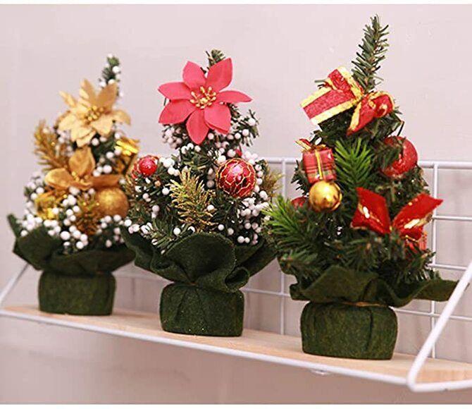 Рождественский декор: 40 сказочных идей украшения маленькой елки 31