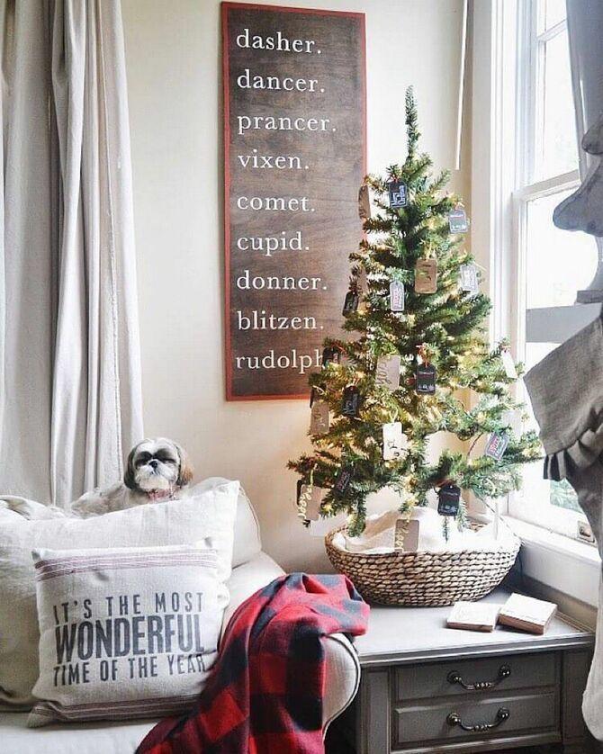 Рождественский декор: 40 сказочных идей украшения маленькой елки 32
