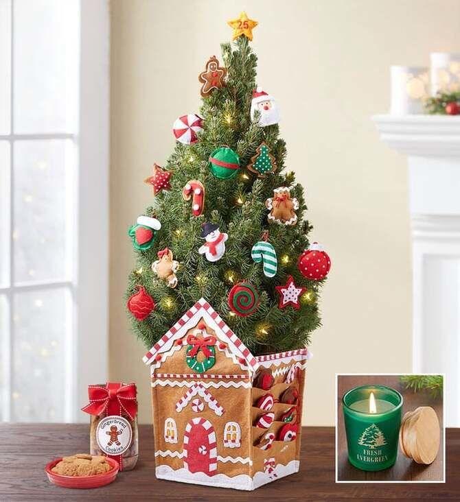 Рождественский декор: 40 сказочных идей украшения маленькой елки 38