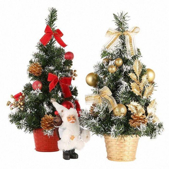 Рождественский декор: 40 сказочных идей украшения маленькой елки 41