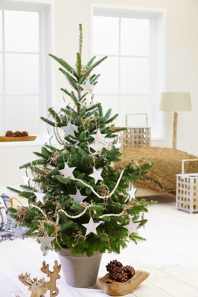 Рождественский декор: 40 сказочных идей украшения маленькой елки 7