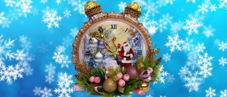 Поделка новогодние часы