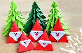 Новогодние оригами: красота своими руками