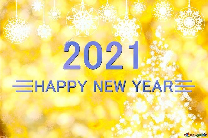 Чарівні новорічні картинки на 2021 рік Бика 11