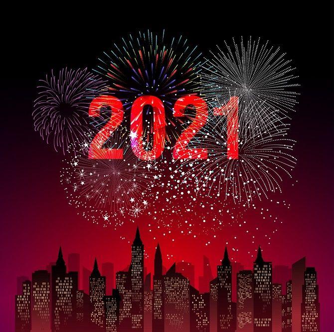 Чарівні новорічні картинки на 2021 рік Бика 12