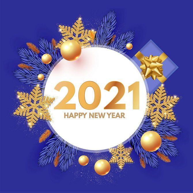 Чарівні новорічні картинки на 2021 рік Бика 14