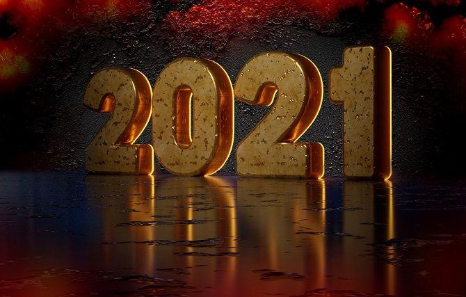 Чарівні новорічні картинки на 2021 рік Бика 15