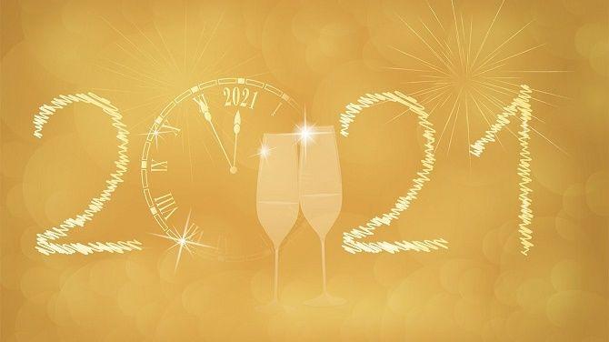 Чарівні новорічні картинки на 2021 рік Бика 9